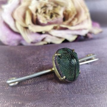 Scarab Beetle Pin Brooch